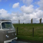Fergus at standing stones Stenness