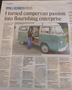 VW Camper in Press & Journal