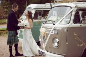 VW Wedding Deeside Classic Campers at Raemoir House Hotel