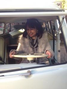 new lady owner of VW splitscreen DCC