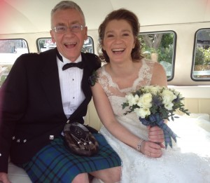 Sally & Dad in Angus VW