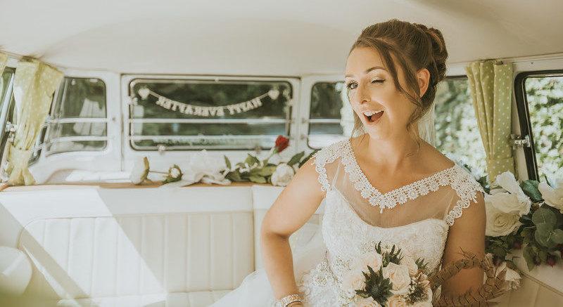 bridal car bridal transport wedding car wedding campervan Aberdeenshire