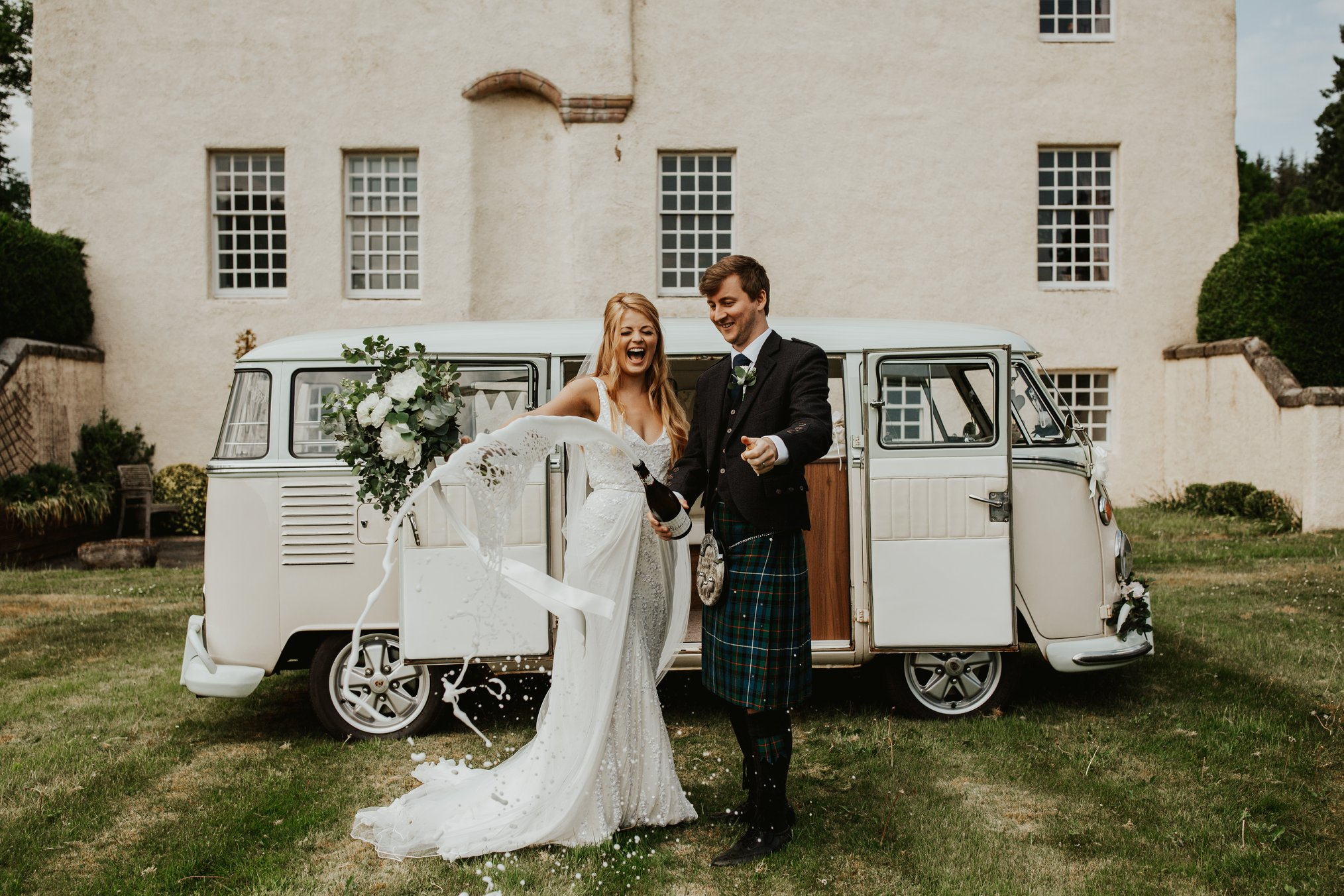 Wedding Vehicle Classic Campers Scotland