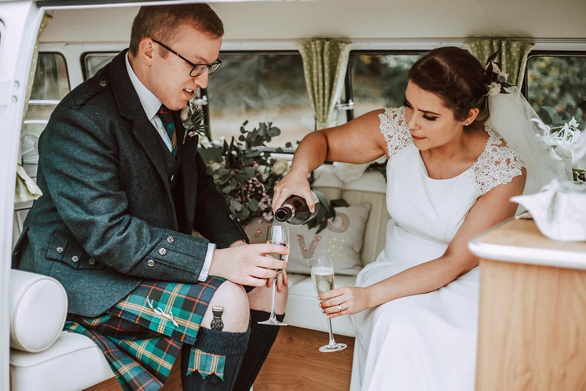 Wedding Vehicle Classic Campers Scotland