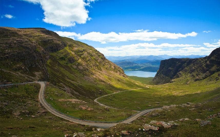 Applecross NC500 Campervan hire Scotland best road to drive in Scotland Applecross