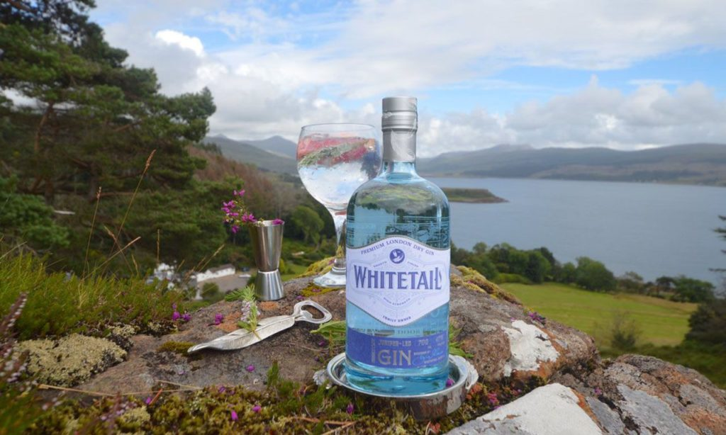 Driving gin on campervan hire holiday in Scotland on Mull
