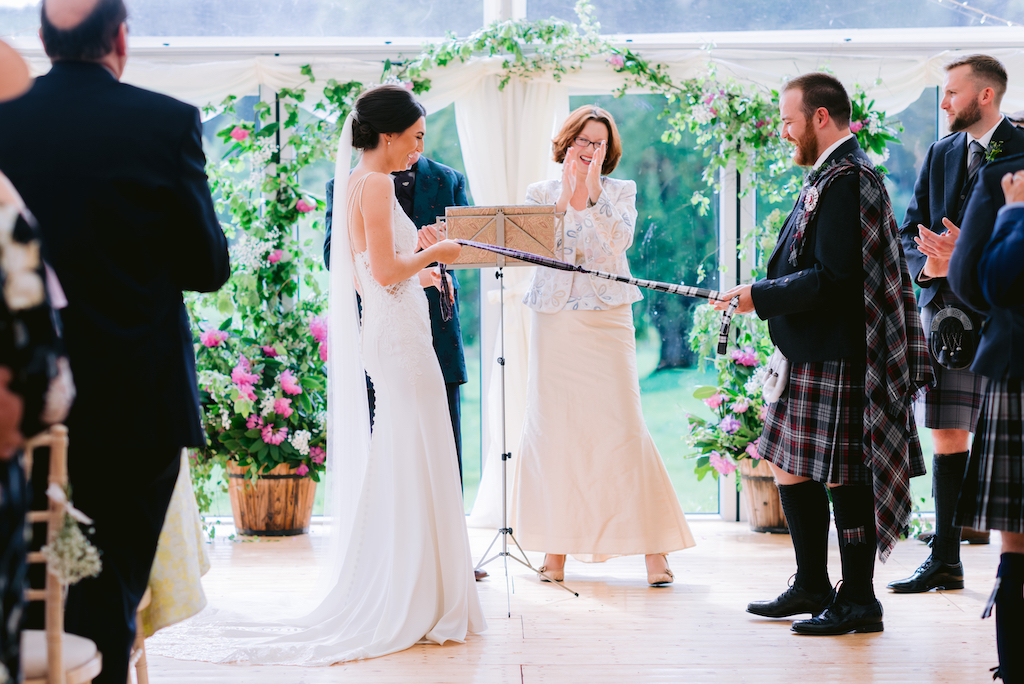 Humanist wedding at Ballogie House Deeside Classic Campers Campervan Hire Scotland