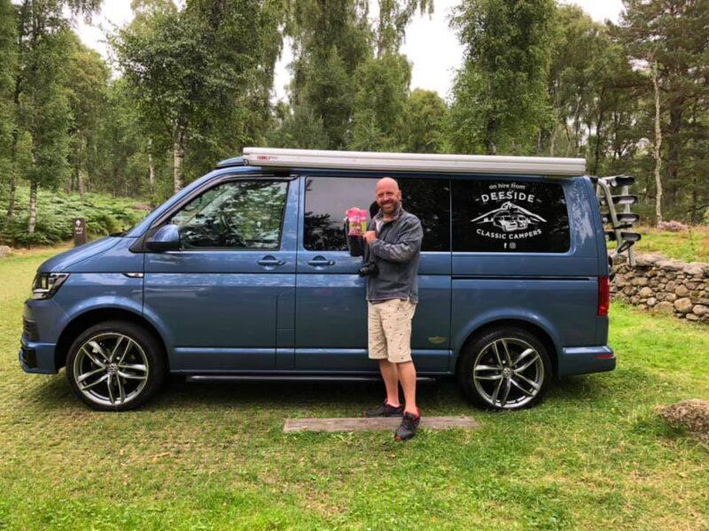 Harris T6 VW blue campervan