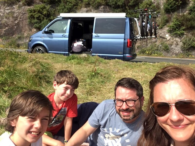 Euan Pirie and family Harris VW T6 Deeside Classic Campers